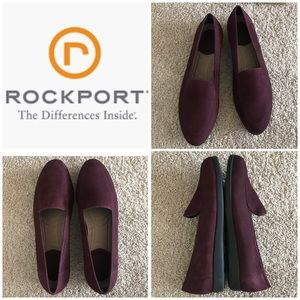 Rockport Burgundy Suede Loafers Size 9.5